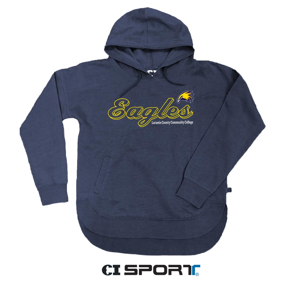 Ladies LCCC Eagles Vintage Wash Hoodie