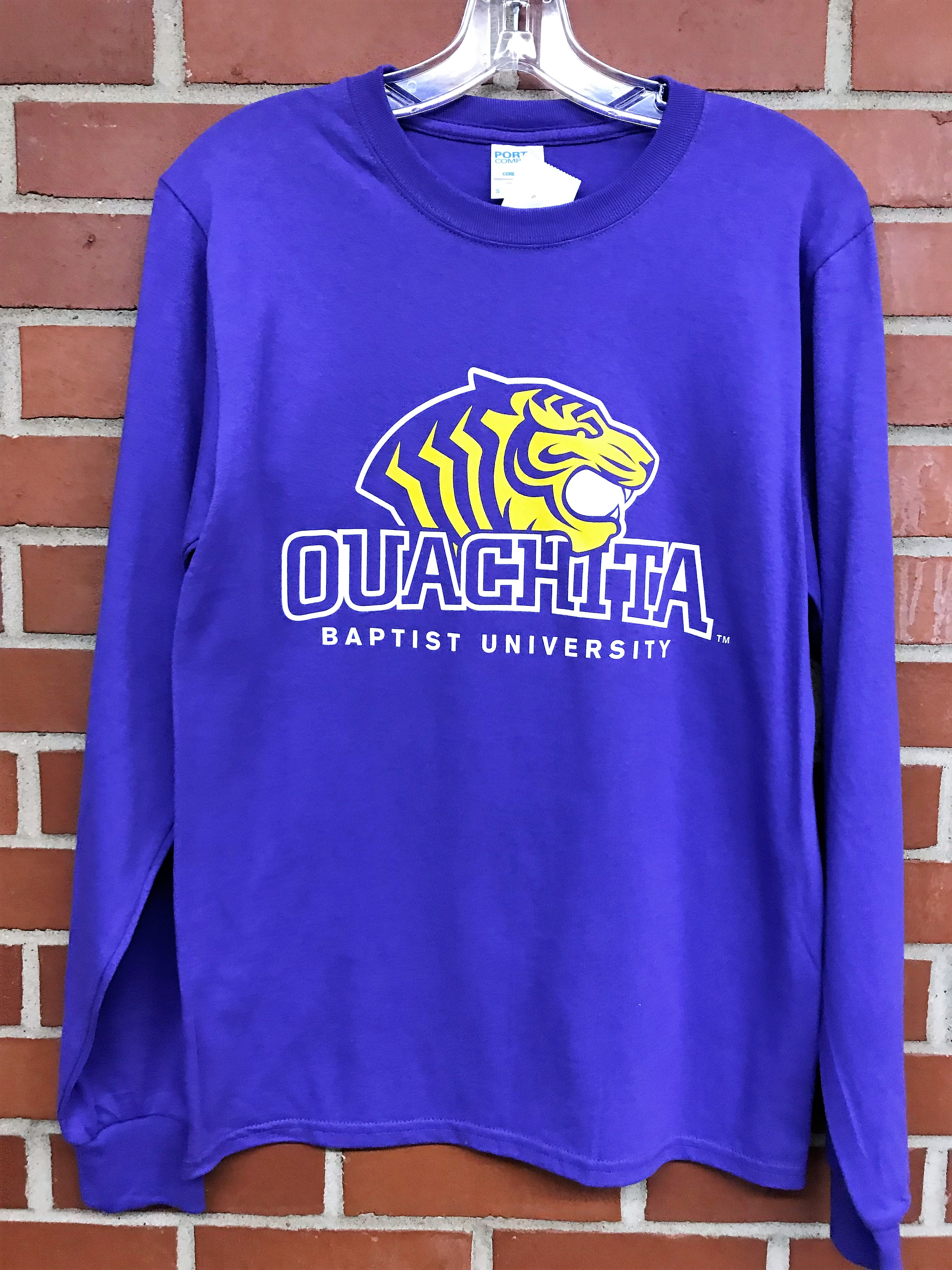 PURPLE OUACHITA BAPTIST TIGERS LONG SLEEVE