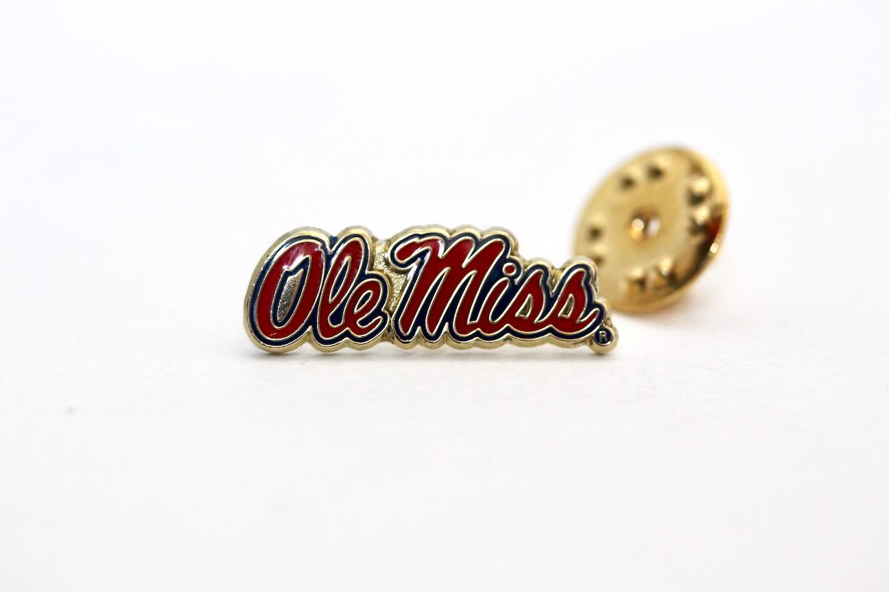 Ole Miss Script Lapel Pin