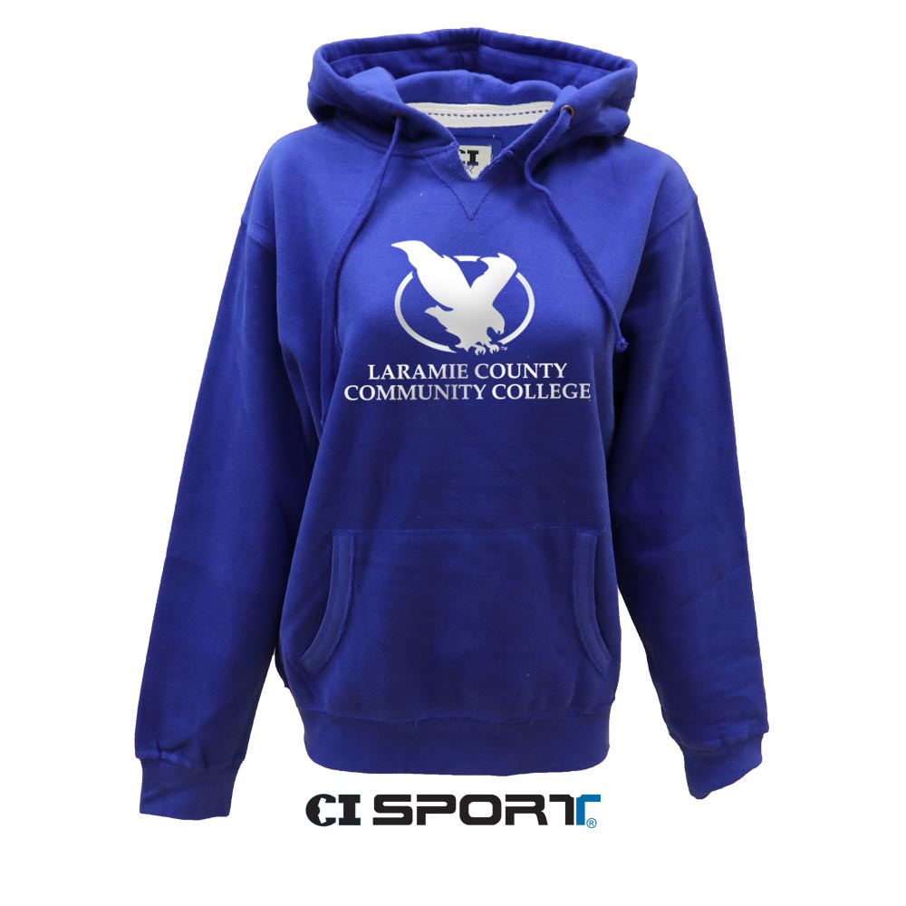 Ladies V-Notch Traditional Logo Hoodie
