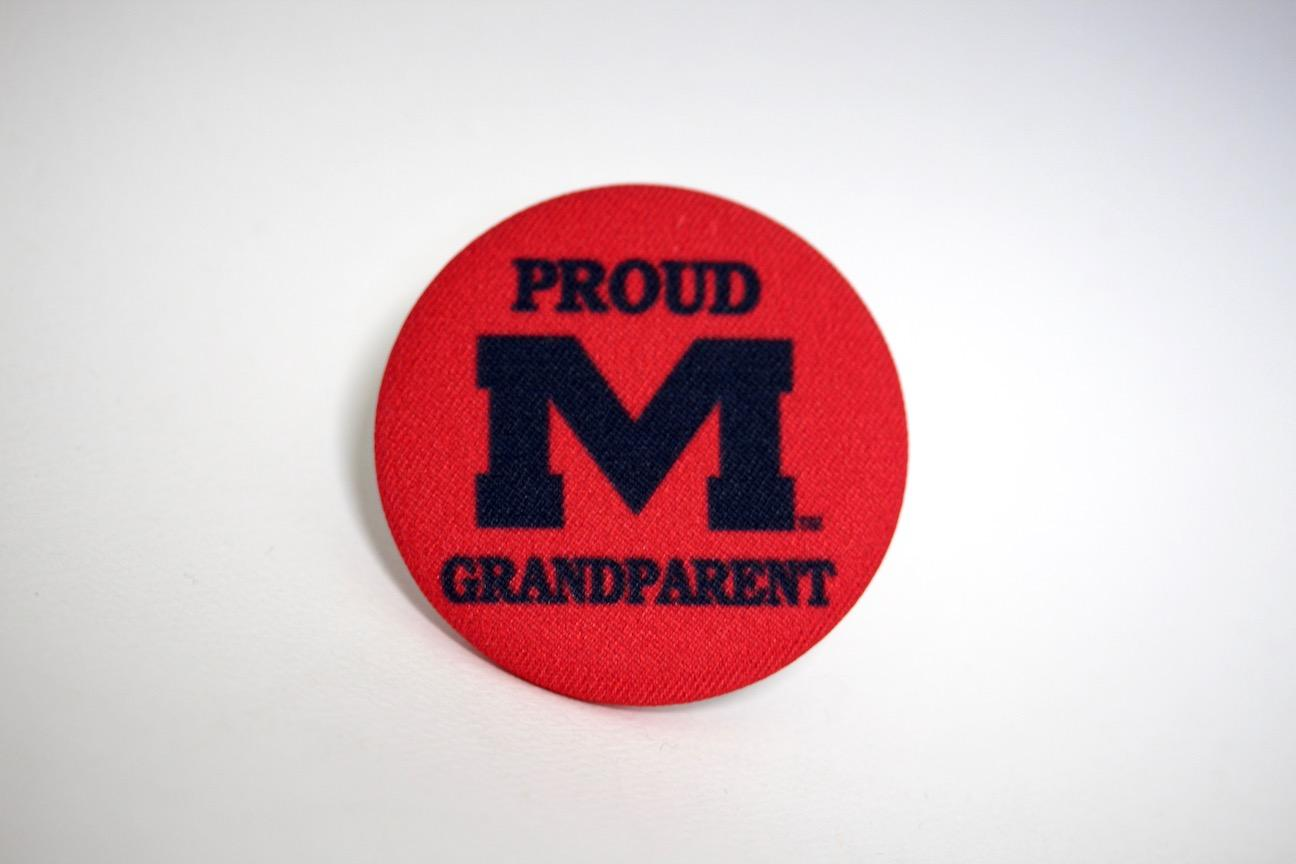 Proud Grandparent Fabric Button
