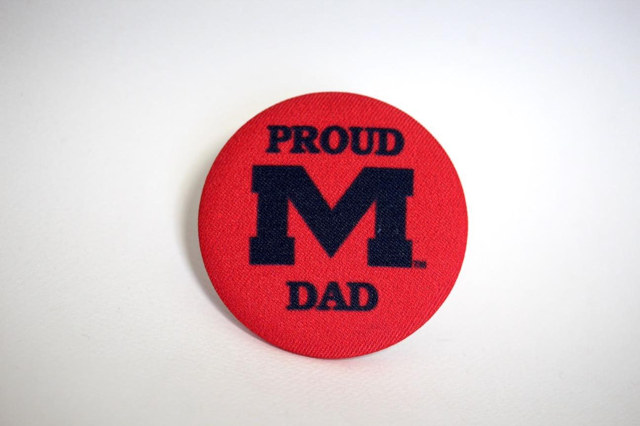 Proud Dad Fabric Button