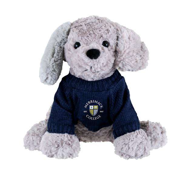 Elliott Grey Stuffed Dog