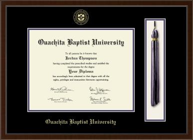 OUACHITA BAPTIST UNIVERSITY TASSEL DIPLOMA FRAME