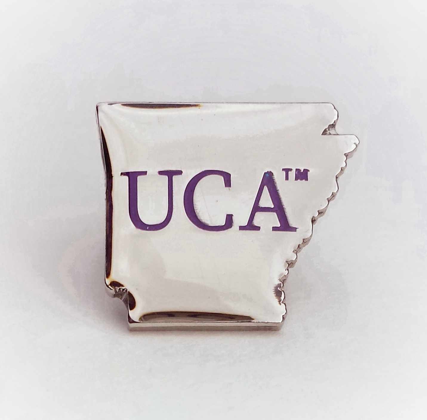 Arkansas Shaped UCA Lapel Pin