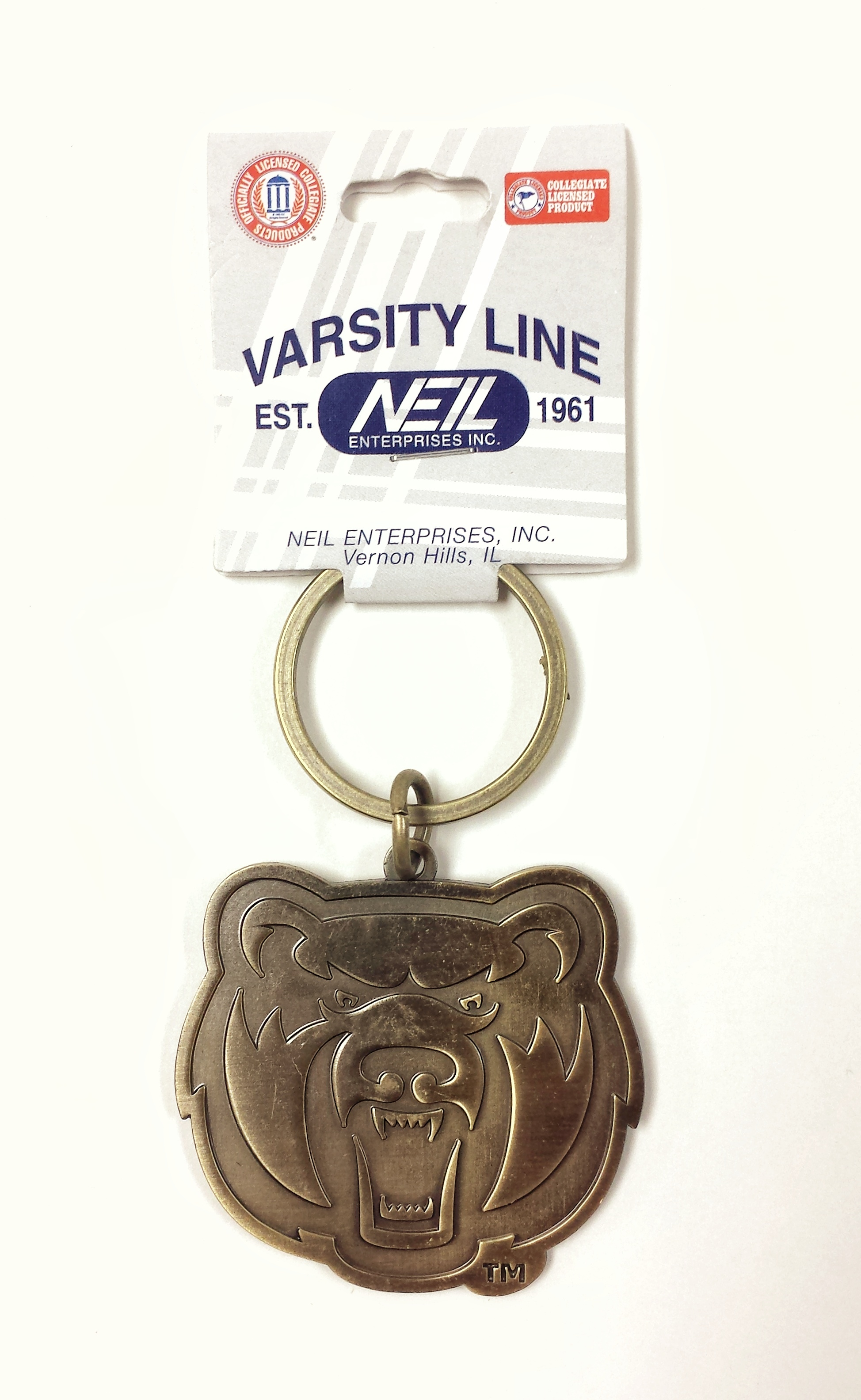 Antiqued Bearhead Keytag