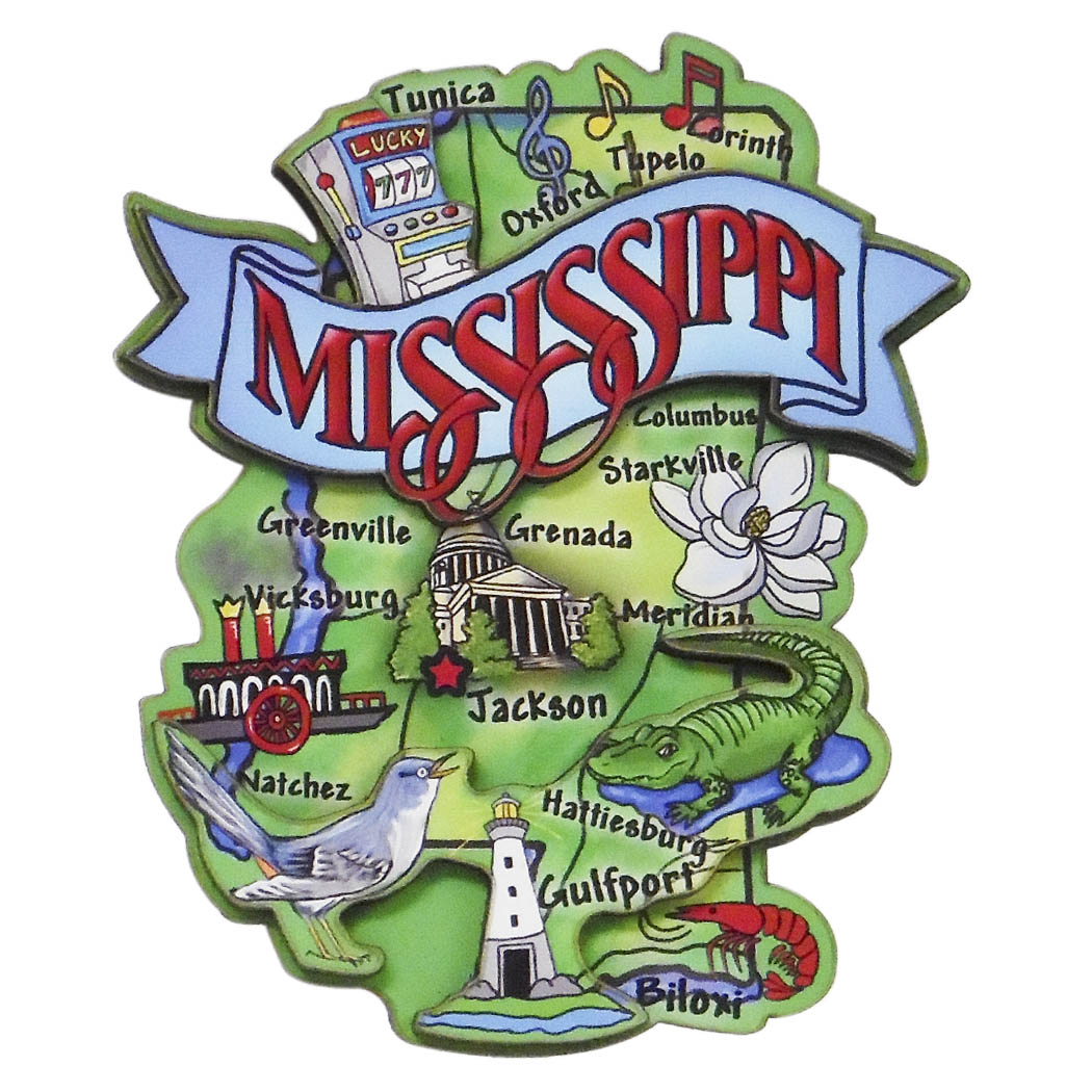 Mississippi Artwood Magnet