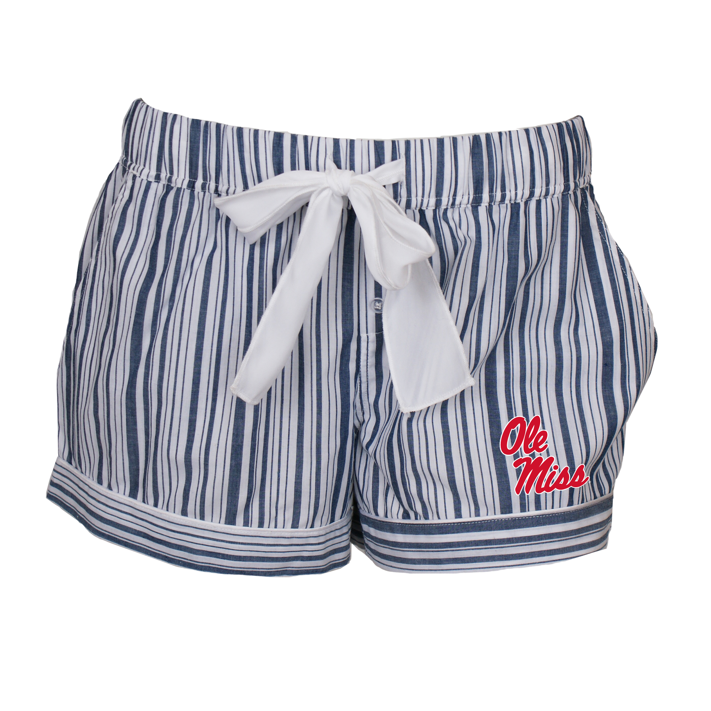 Womens Striped Woven Shorts