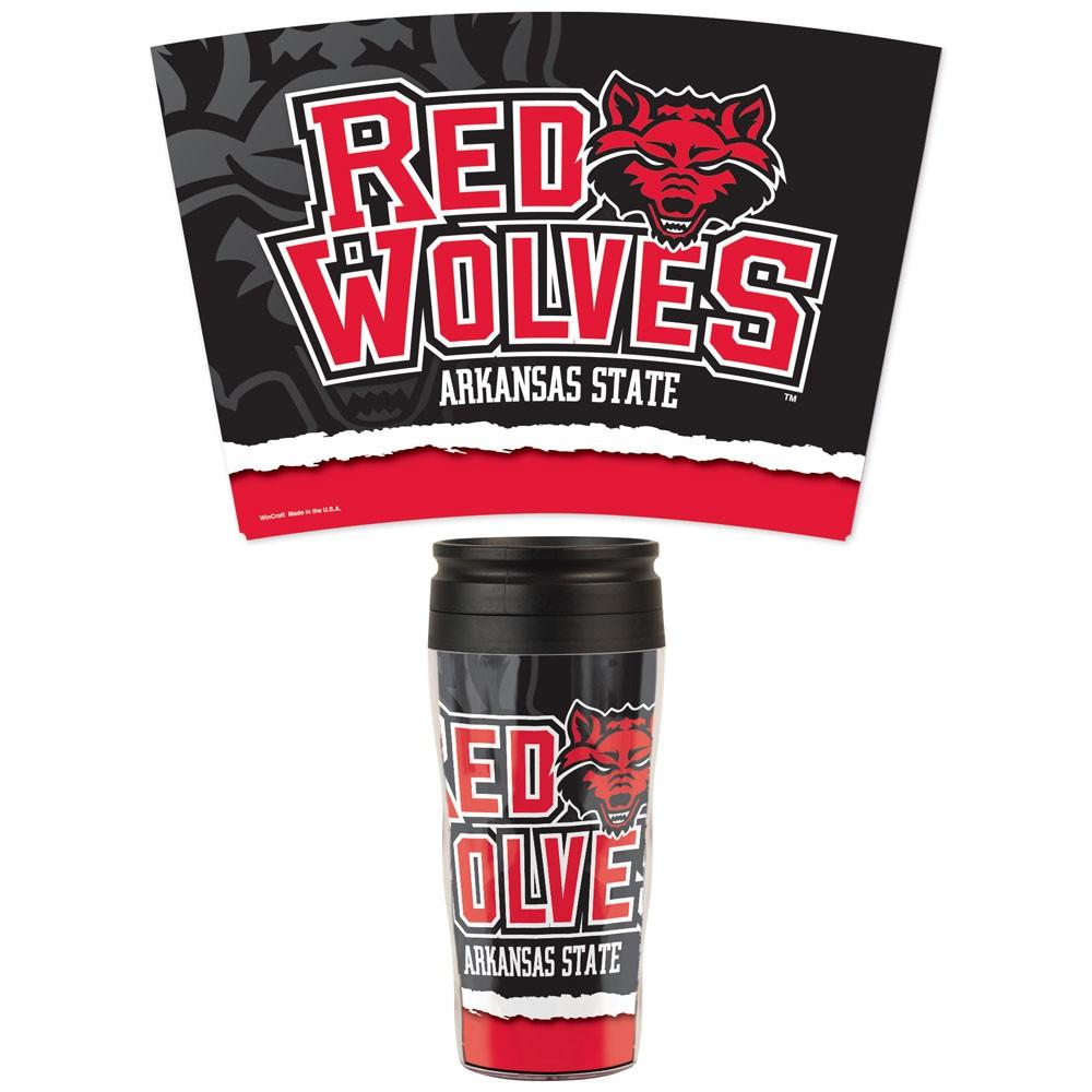Red Wolves Travel Mug