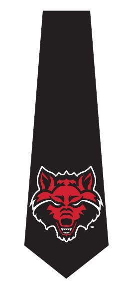 Red Wolves Silk Tie