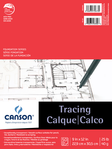 Canson Tracing Pad Foundation Series 9in x 12in