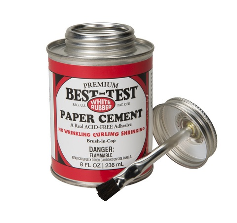 Best-Test Acid Free Rubber Cement (8oz)