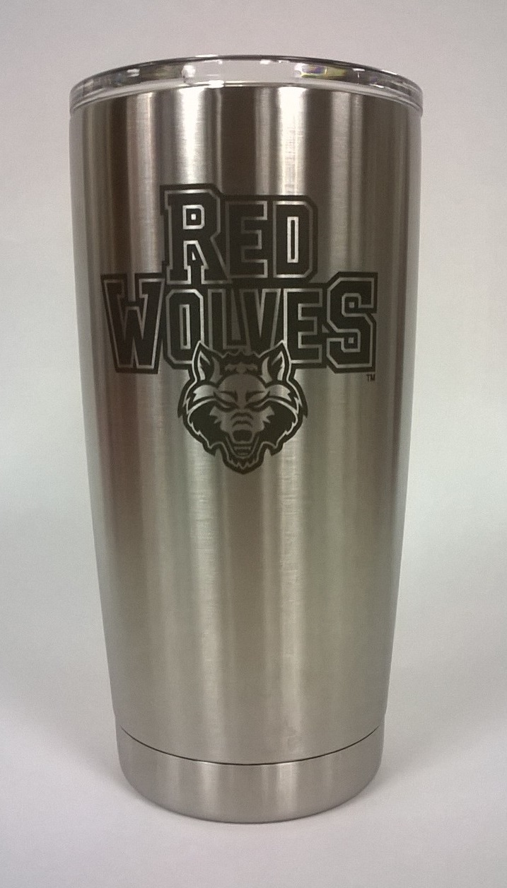 Red Wolves YETI Rambler 20oz Tumbler