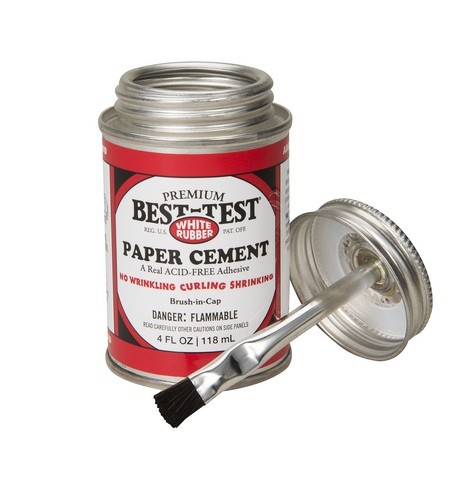 Best-Test Acid Free Rubber Cement (4oz)
