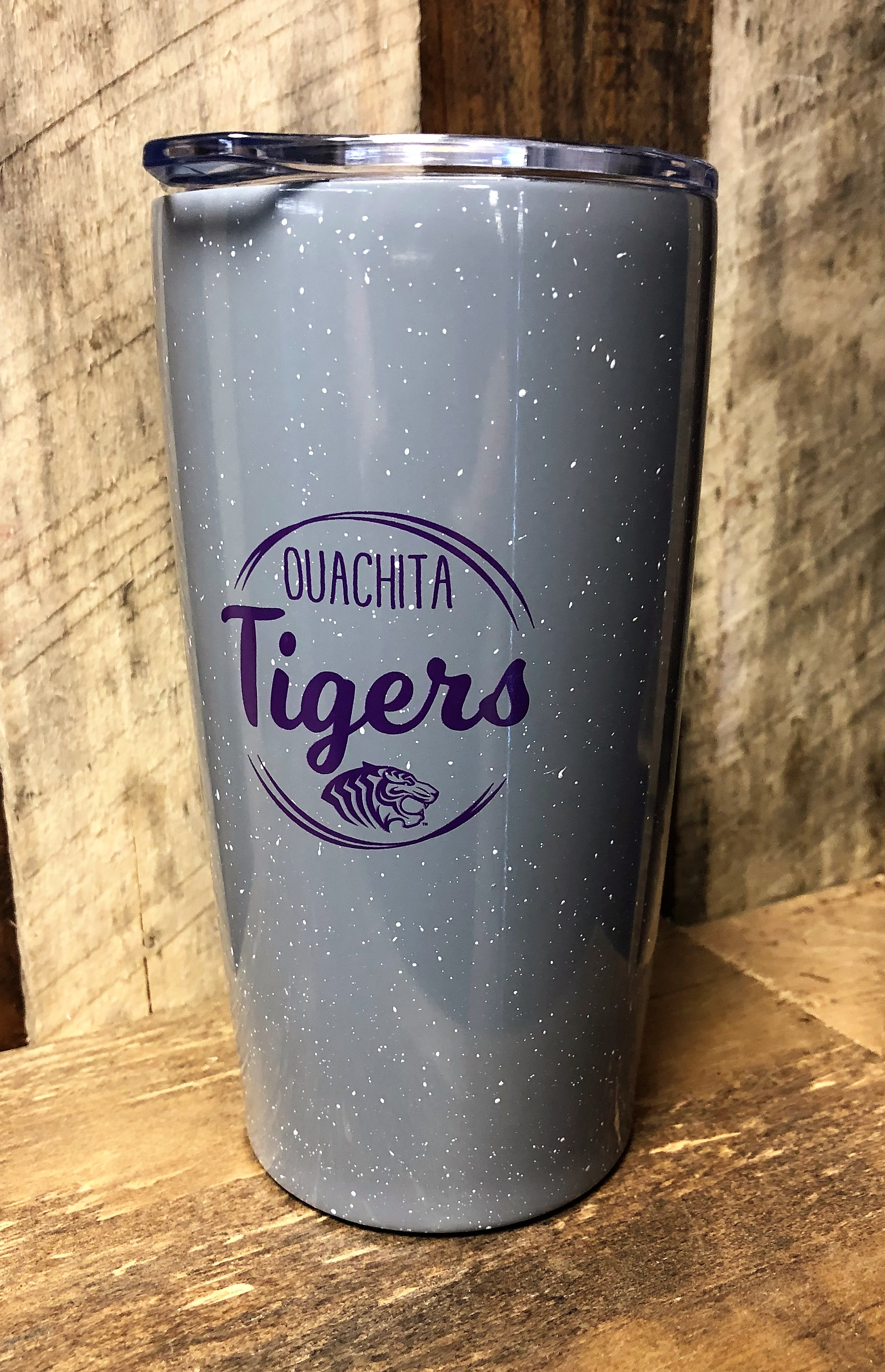 OUACHITA TIGERS SPECKLED 20 OZ TUMBLER