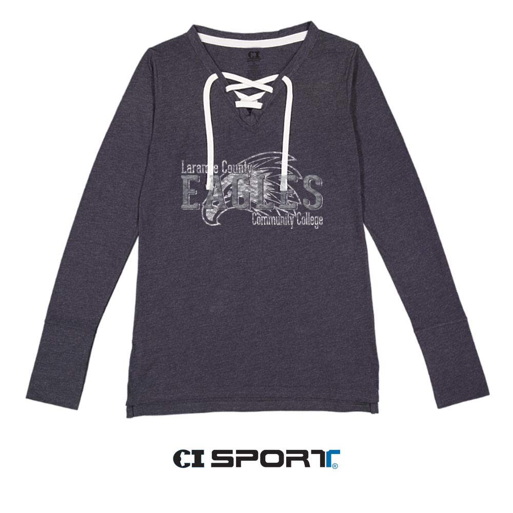 Ladies LCCC Long Sleeve Lace Up Tee