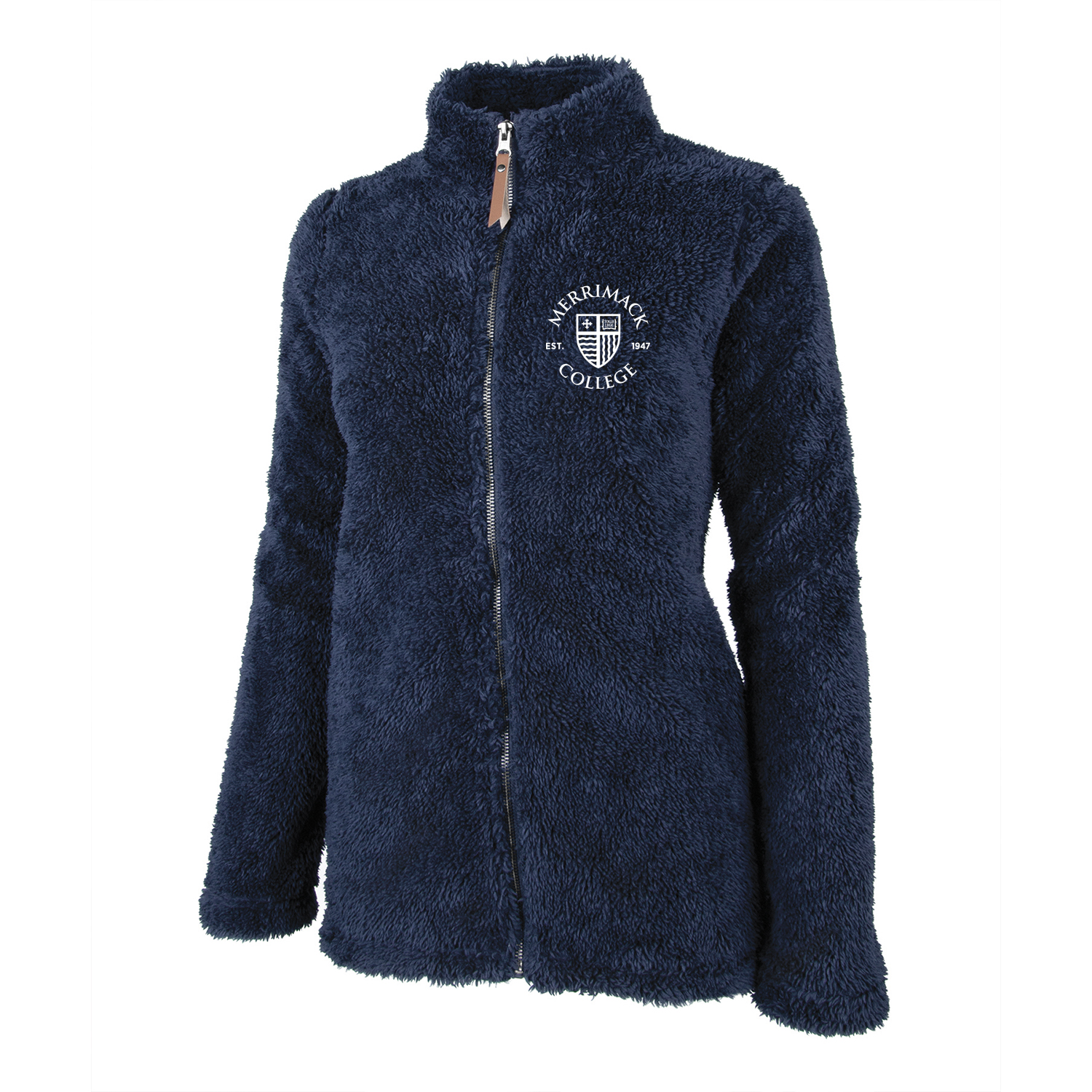Navy Full Zip Sherpa