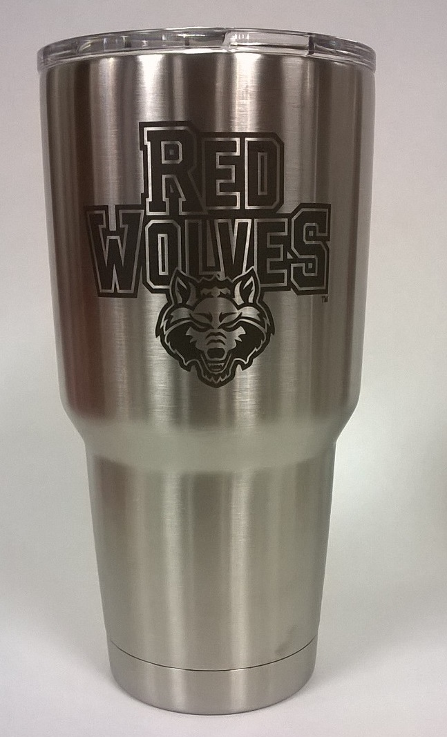 Red Wolves YETI Rambler 30oz Tumbler