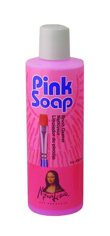 Pink Soap Brush Cleaner 8 oz
