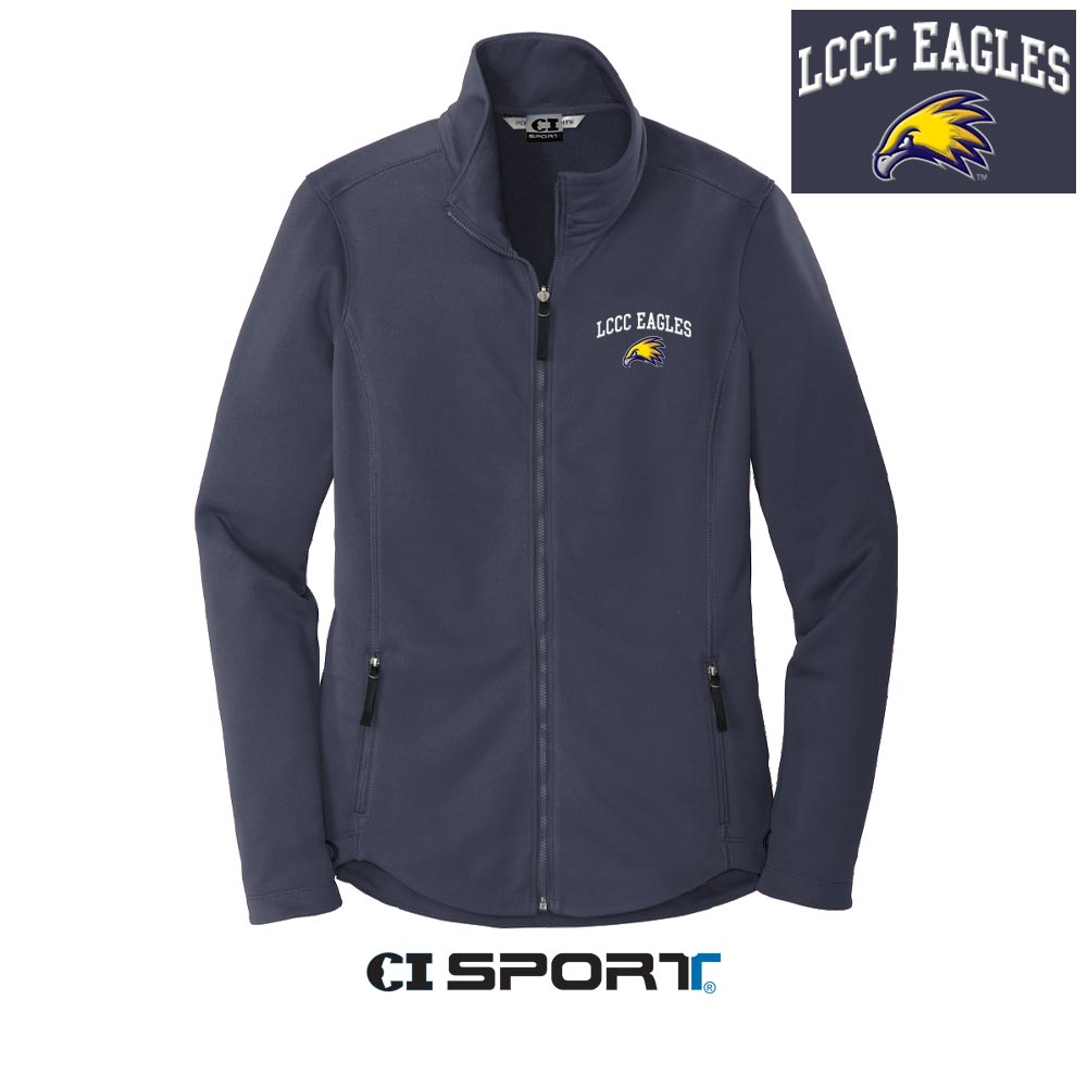 Ladies LCCC Eagles Smooth Fleece Jacket