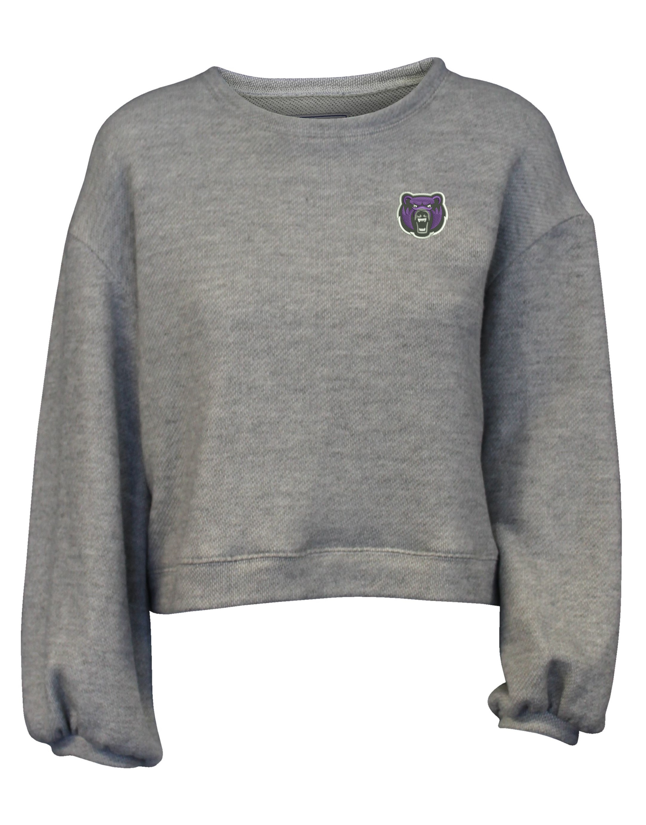 Cropped Puff Sleeve Crew