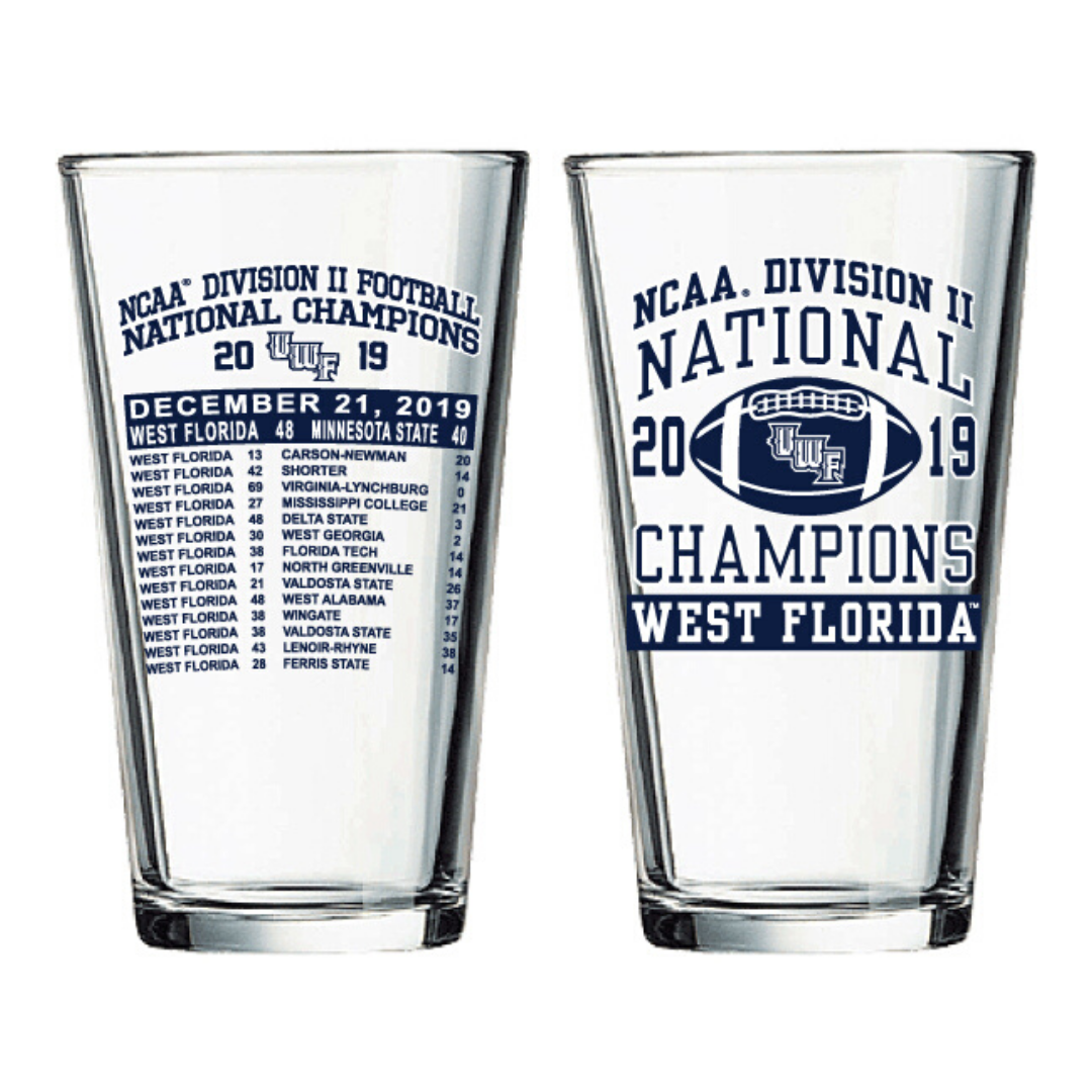 NCAA DII CHAMPION PINT GLASS