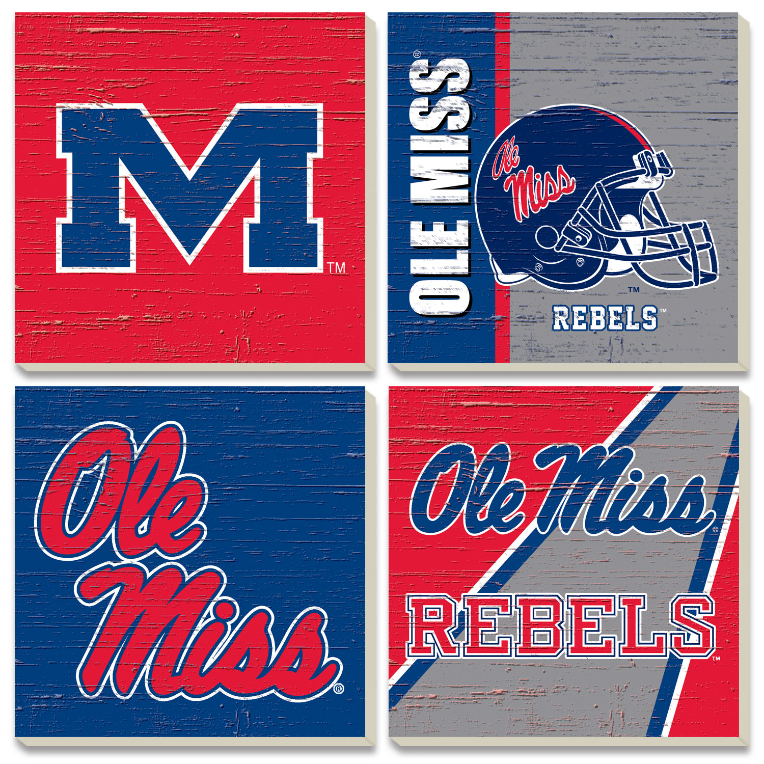 Ole Miss Stone Coaster 4 Pack