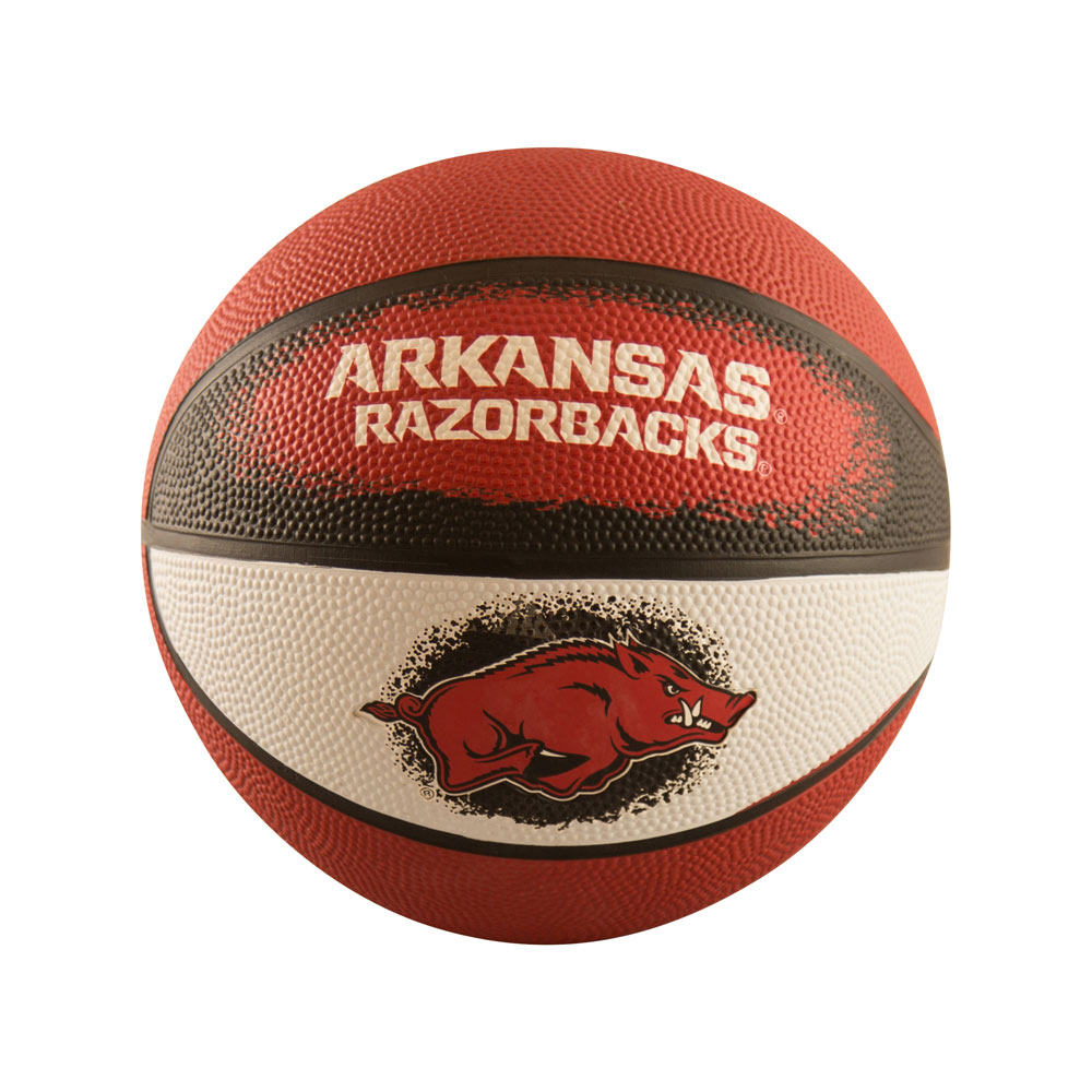 Arkansas Mini-Size Rubber Basketball Boxed
