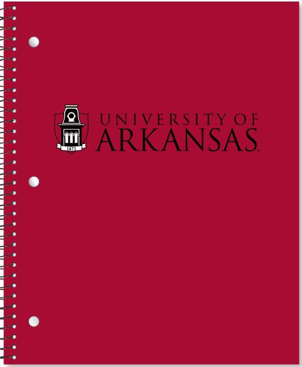 University of Arkansas 1 Subject Notebook