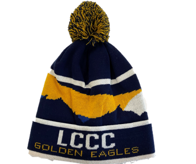 LCCC Golden Eagles Pom Pom Beanie