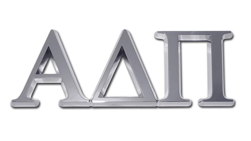 Alpha Delta Pi Chrome Auto Emblem