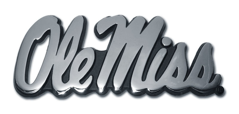 Ole Miss Chrome Auto Emblem
