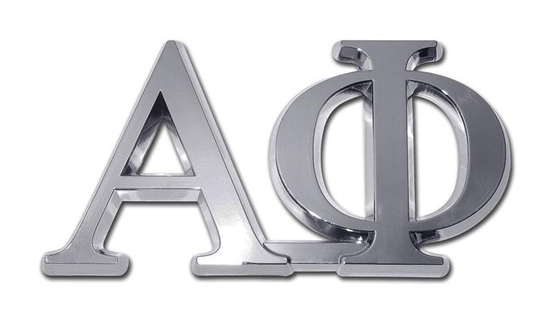 Alpha Phi Chrome Auto Emblem