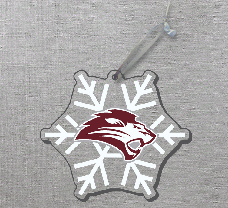 Lion Logo Snowflake Ornament