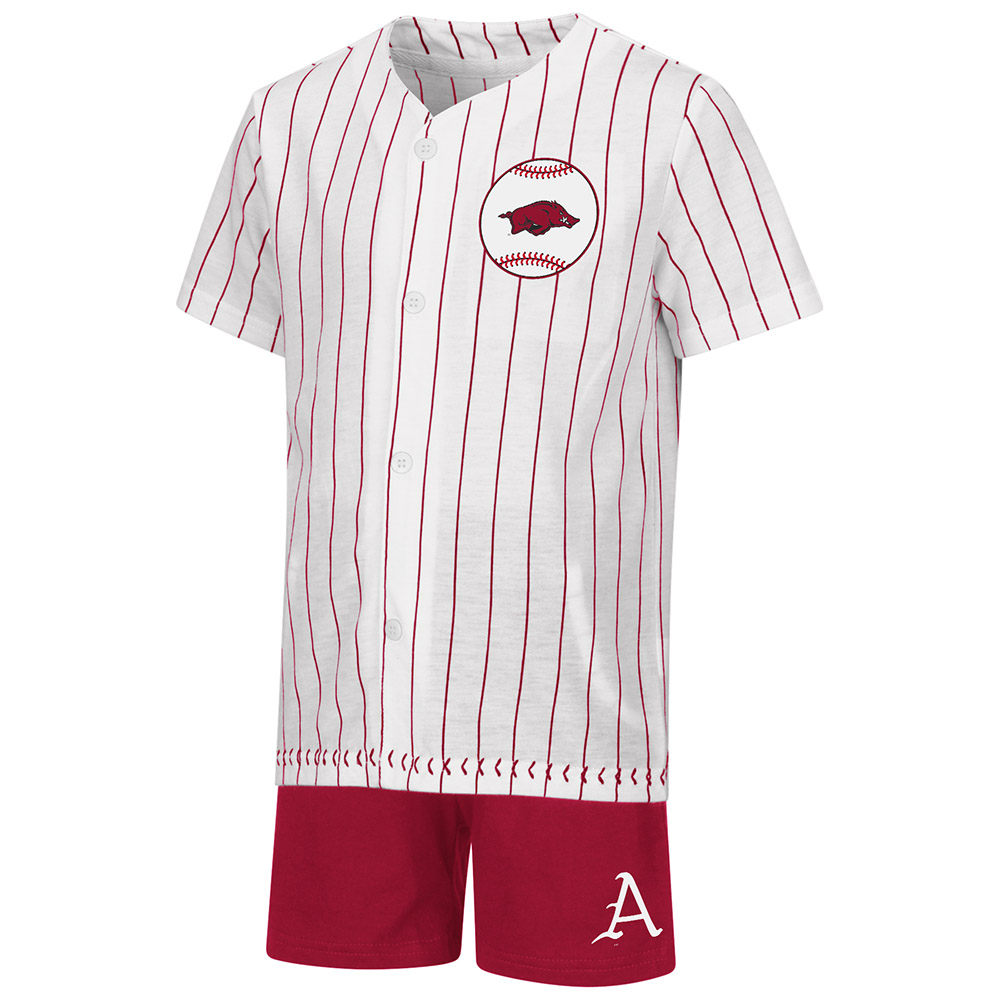 Toddler Boys Baseball SS Tee and Short Set