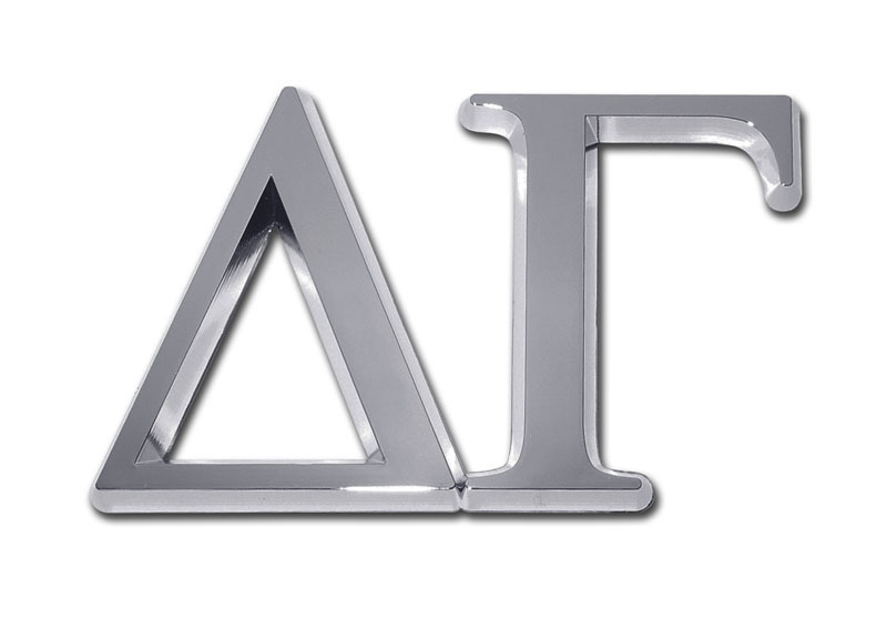 Delta Gamma Chrome Auto Emblem