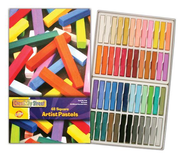 Creativity Street Square Artist Pastels 48-Color Set