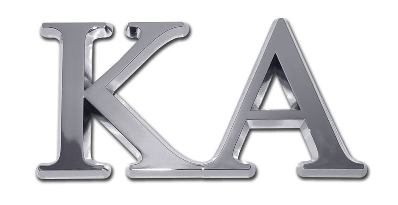 Kappa Alpha Chrome Auto Emblem