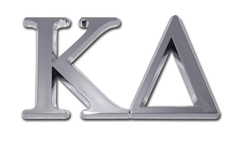 Kappa Delta Chrome Auto Emblem