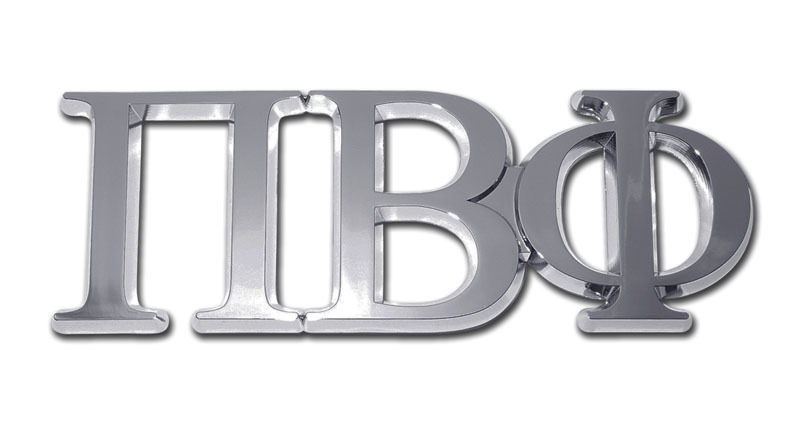 Pi Beta Phi Chrome Auto Emblem