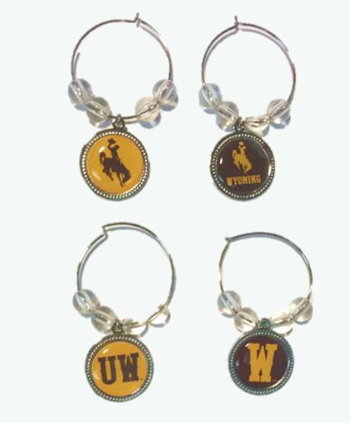 Brown and Gold Wine Charms