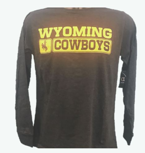 "Wyoming Cowboys ""Basketball"" Long Sleeve Shirt"