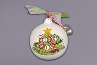 Orn w ribbon, bells and Gift Box Tree