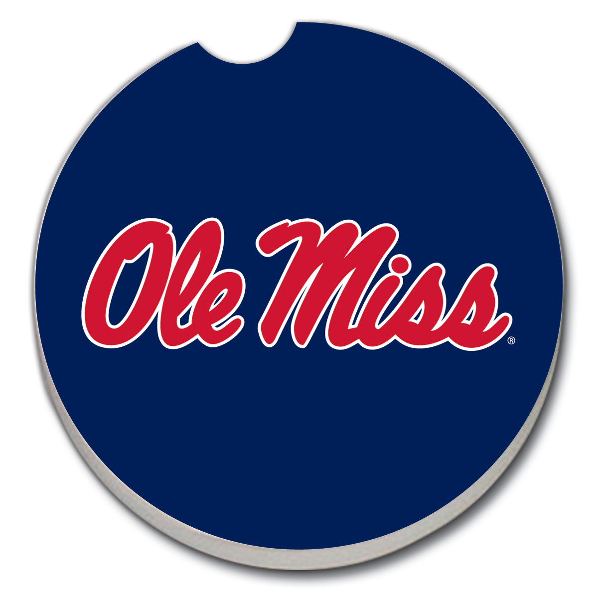Blue Ole Miss Car Coaster