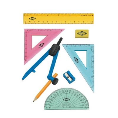Geometry Set with Compass 8pc