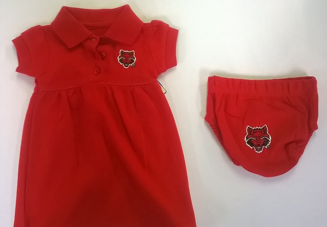 Red Wolves Polo Dress and Bloomer