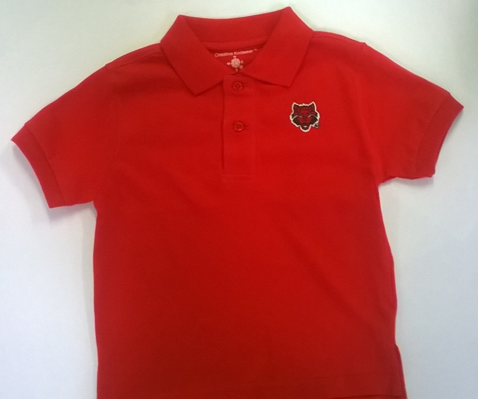 Red Wolves Toddler Cotten Polo