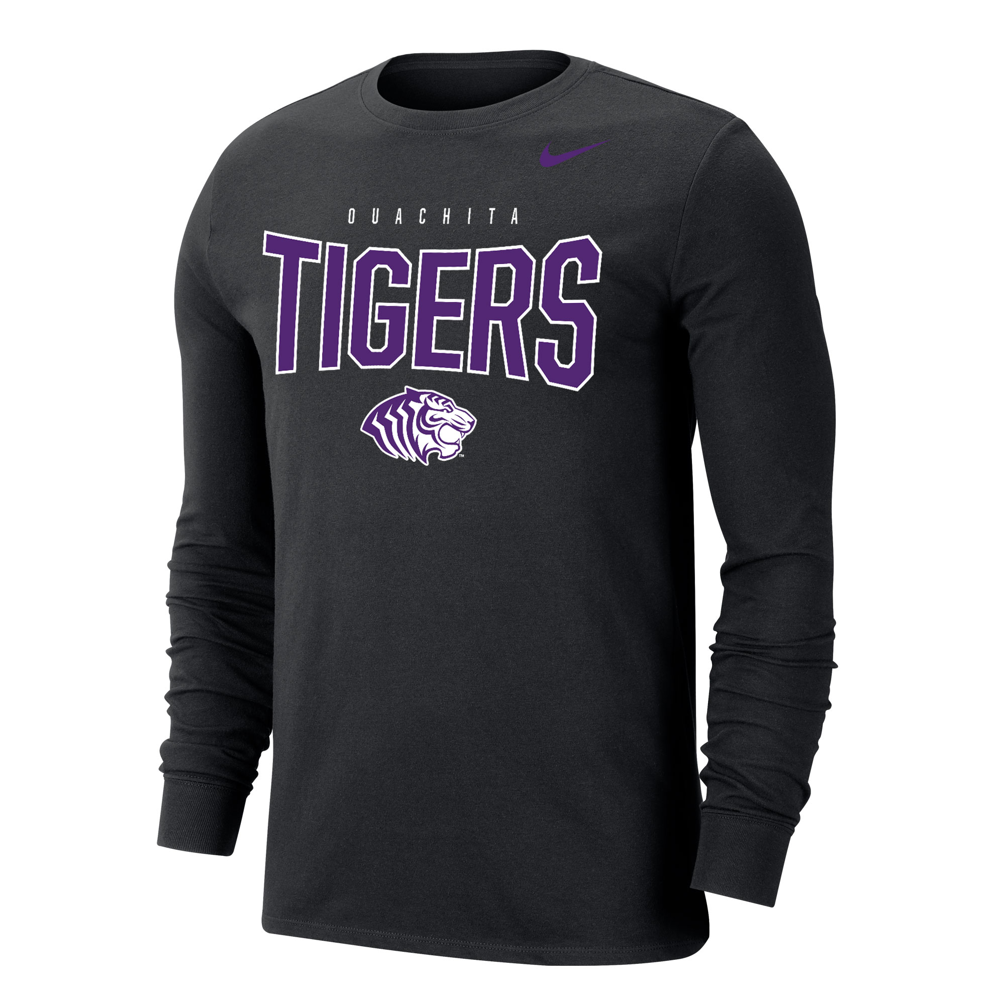 OUACHITA TIGERS NIKE DRI-FIT LS TEE