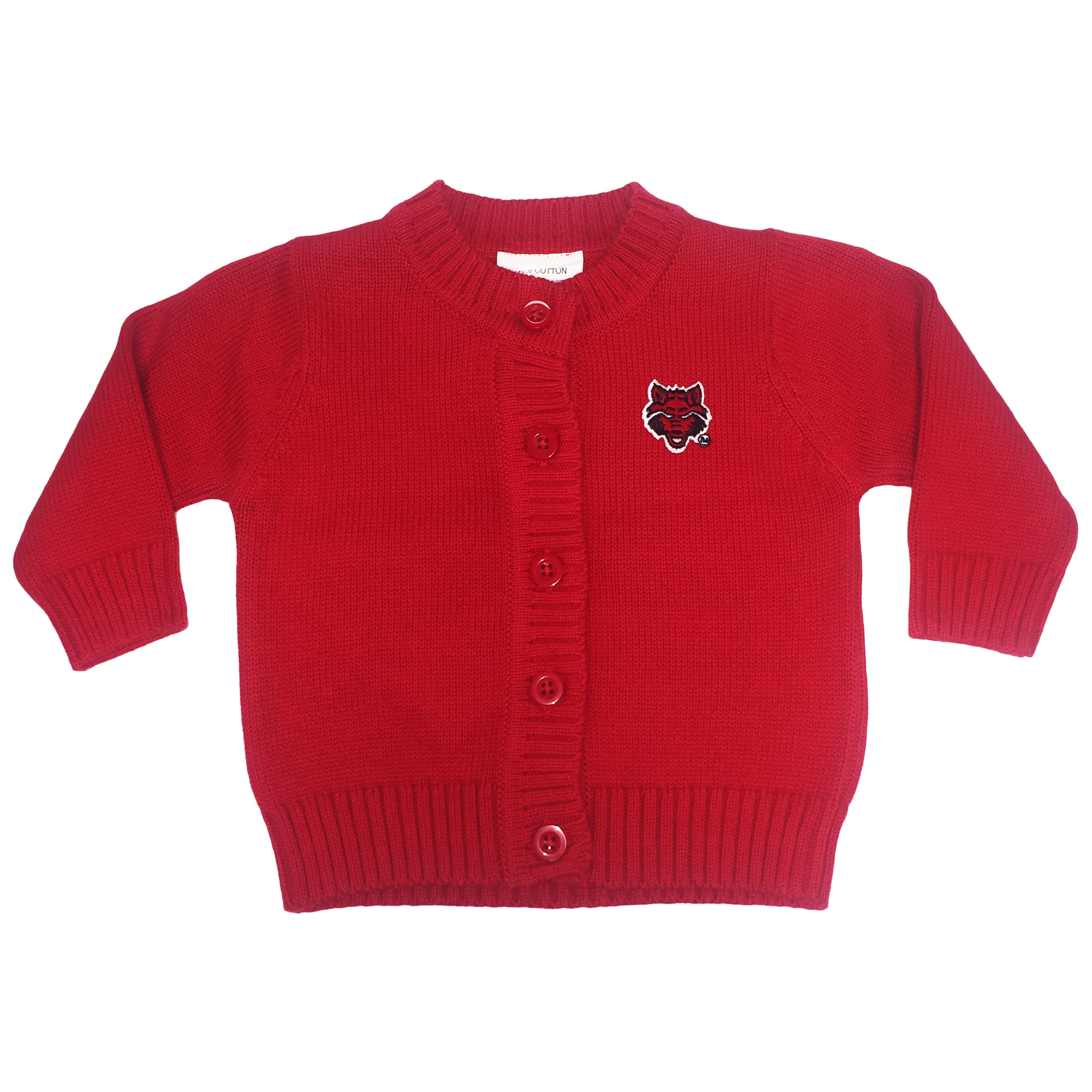 Red Wolves Cardigan Sweater