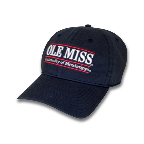 Navy Ole Miss University of Mississippi Adjustable hat